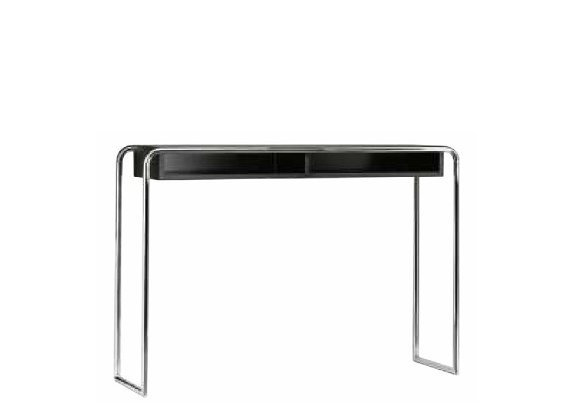 Rectangular steel and wood console table B108 | Console table by THONET