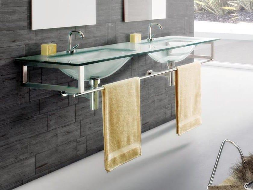 Double wall-mounted crystal washbasin TIFFANY 720 by LASA IDEA