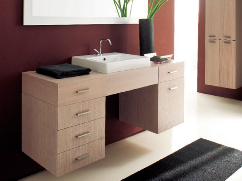Wall-mounted vanity unit with drawers MARIPOSA 12 by LASA IDEA