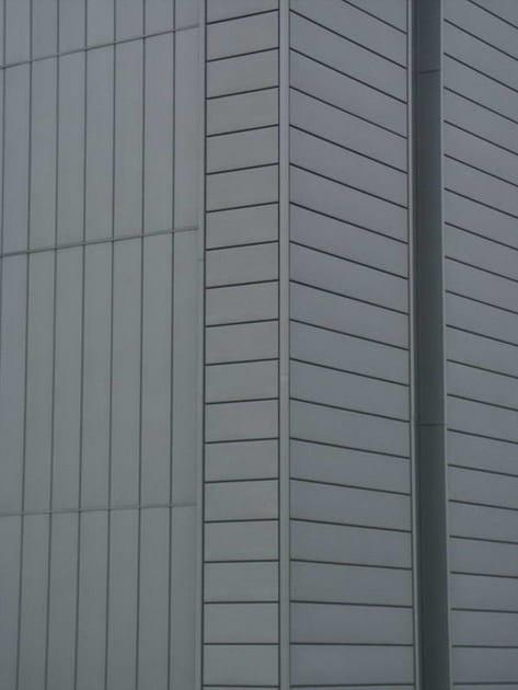 Zinco titanio VMZINC® Edificio Sede Italcuscinetti - Rubiera (Re) - Progettista: Studio Choros   Arch Nadia Calzolari - Finitura: Quartz-Zinc® - Tecnica: profilo a doghe orizzontali e verticali