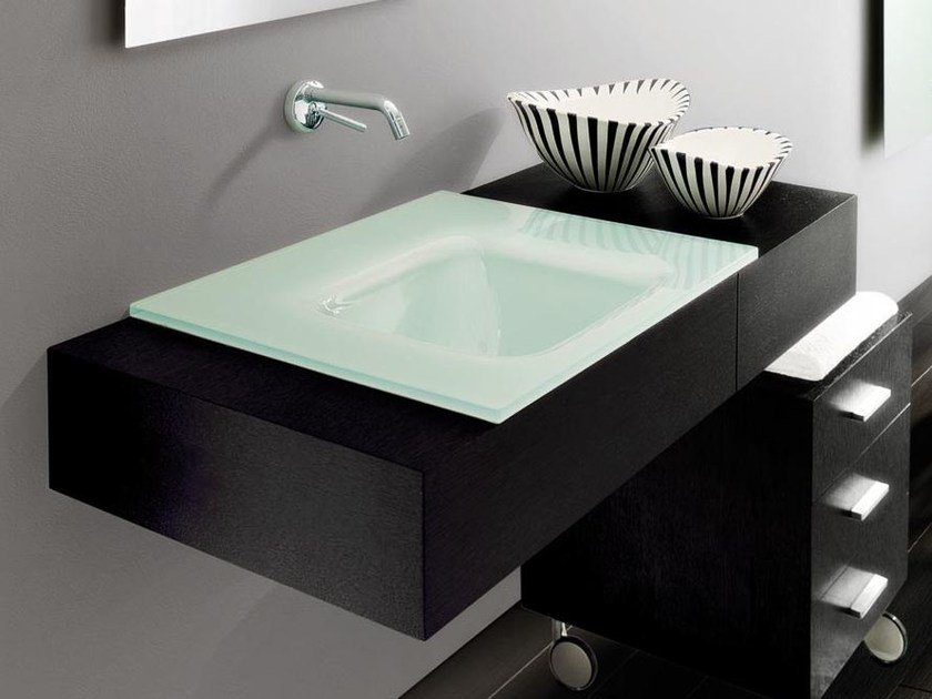 Wall-mounted vanity unit with drawers MARIPOSA 15 by LASA IDEA