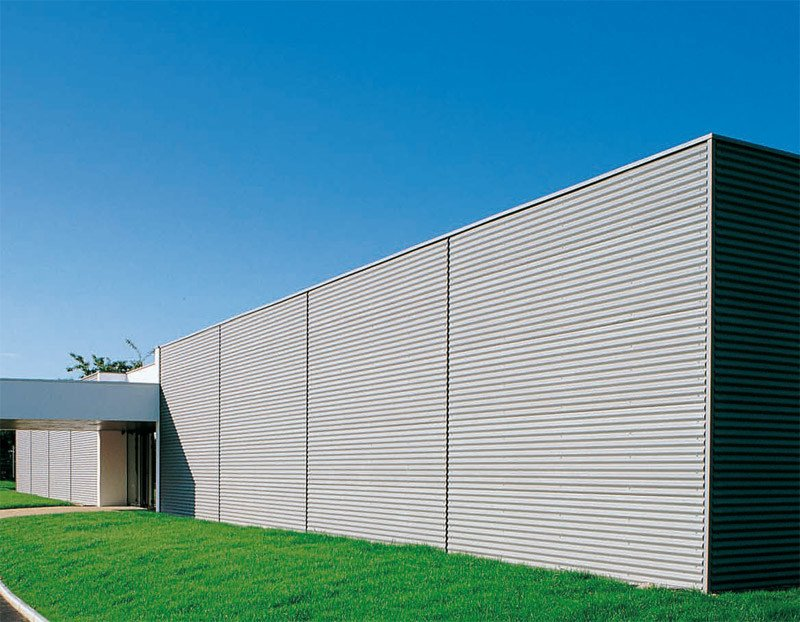 Metal sheet and panel for facade SINUS® by UMICORE VMZINC