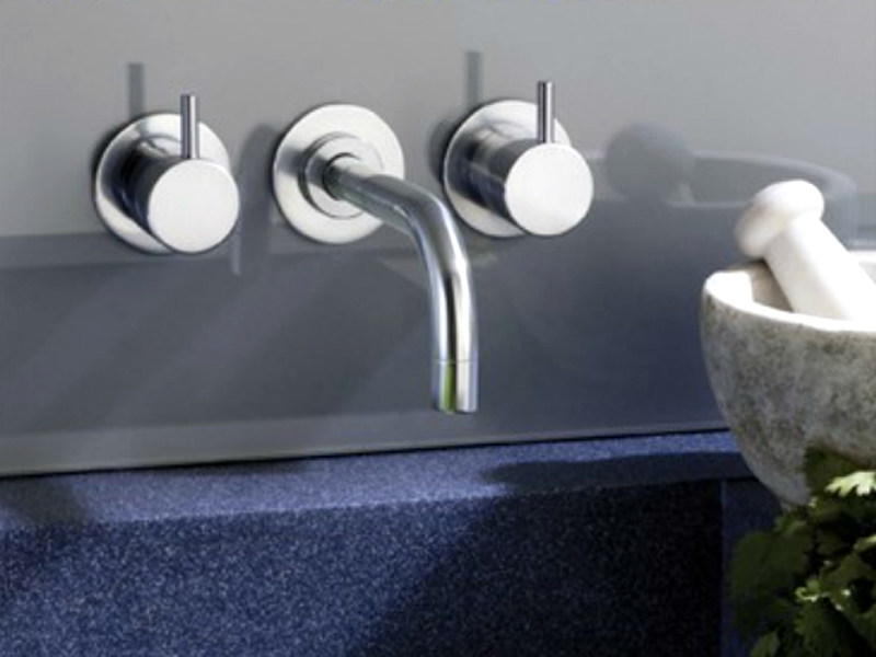 3 hole wall-mounted washbasin tap 1511   Washbasin tap by VOLA