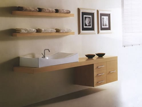 Wall-mounted vanity unit with drawers MARIPOSA 19 by LASA IDEA