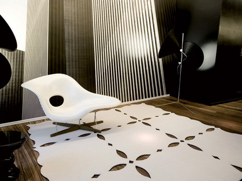 Solid-color polyamide rug SILHOUETTE 07 by OBJECT CARPET GmbH
