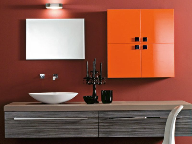 Wall-mounted vanity unit with drawers MARIPOSA 25 by LASA IDEA