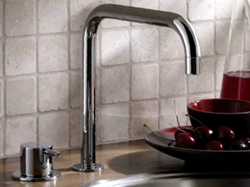 Kitchen mixer tap with swivel spout 590   Kitchen mixer tap by VOLA