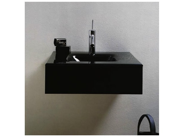 Square single wall-mounted washbasin MARIPOSA MA01 by LASA IDEA