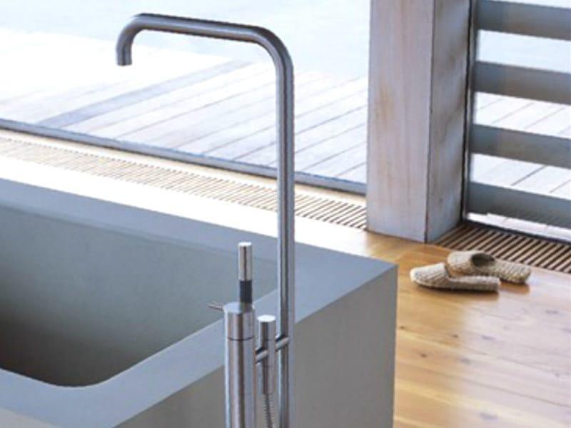 Floor standing bathtub mixer with hand shower FS1 | Bathtub mixer by VOLA