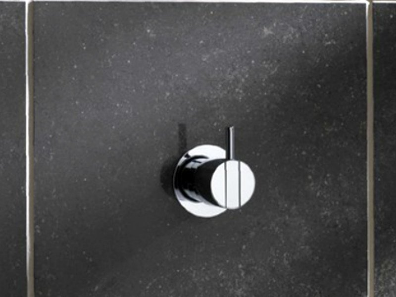 Shower mixer with overhead shower 281 | Shower mixer by VOLA