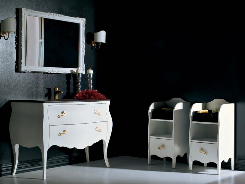 Classic style lacquered single vanity unit with drawers BELLAGIO 9 by LASA IDEA