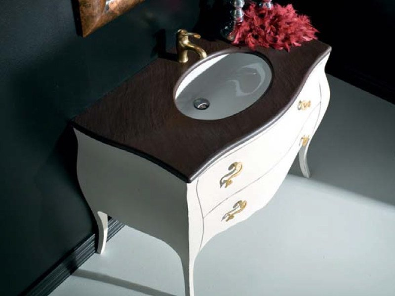 Classic style lacquered single vanity unit with drawers BELLAGIO 10 by LASA IDEA