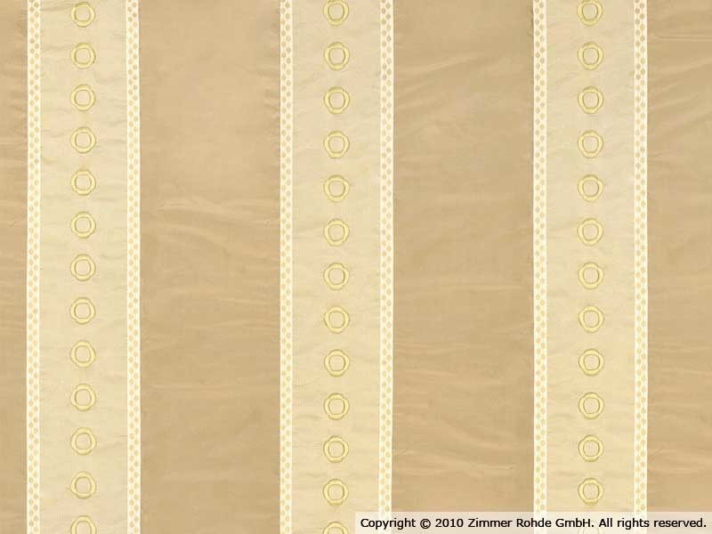Embroidered silk fabric CONCERTO by Zimmer + Rohde