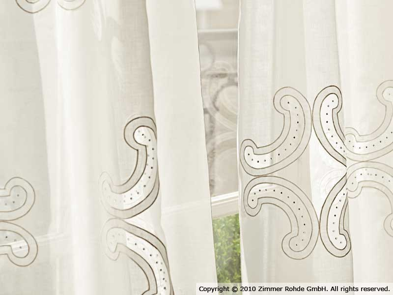 Polyester curtain NARCISO by Zimmer + Rohde