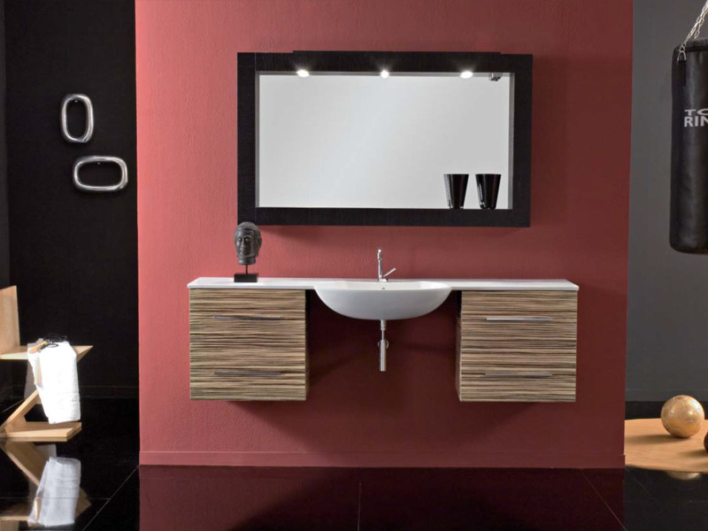 Design single wall-mounted vanity unit with drawers COMPOS 189 by LASA IDEA