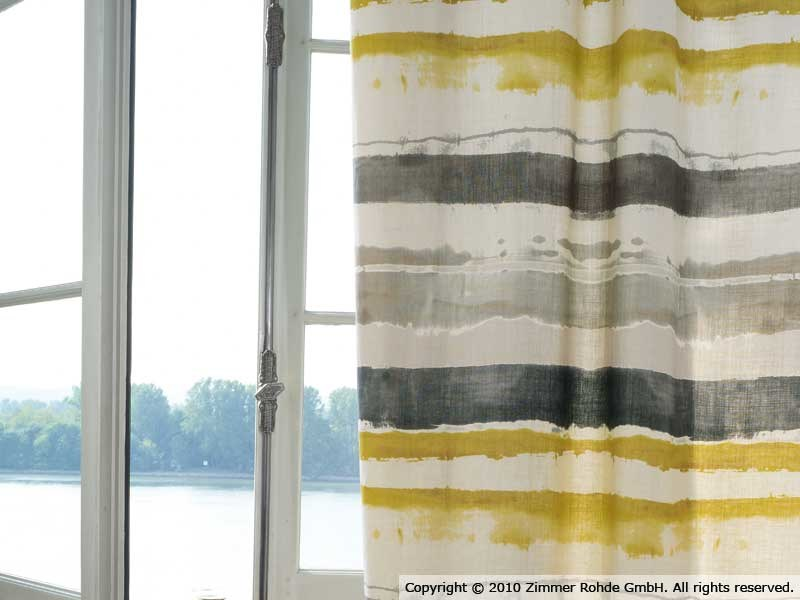 Printed linen fabric NOBI by Zimmer + Rohde