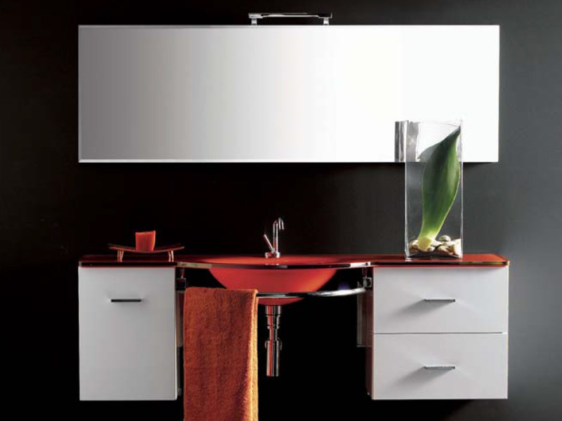 Wall-mounted vanity unit with drawers COMPOS 110 by LASA IDEA