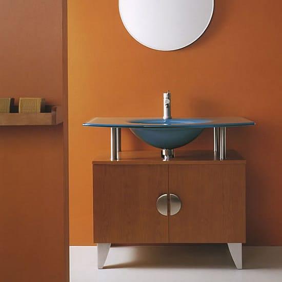 Floor-standing vanity unit with doors SHARK 200 by LASA IDEA