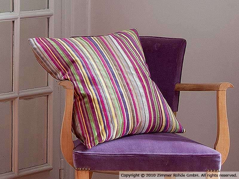 Striped cotton upholstery fabric BABYLONE by Zimmer + Rohde
