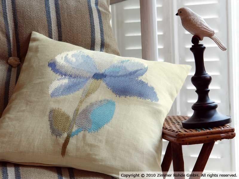 Tejido de tapicería de lino BERMUDES by Zimmer + Rohde
