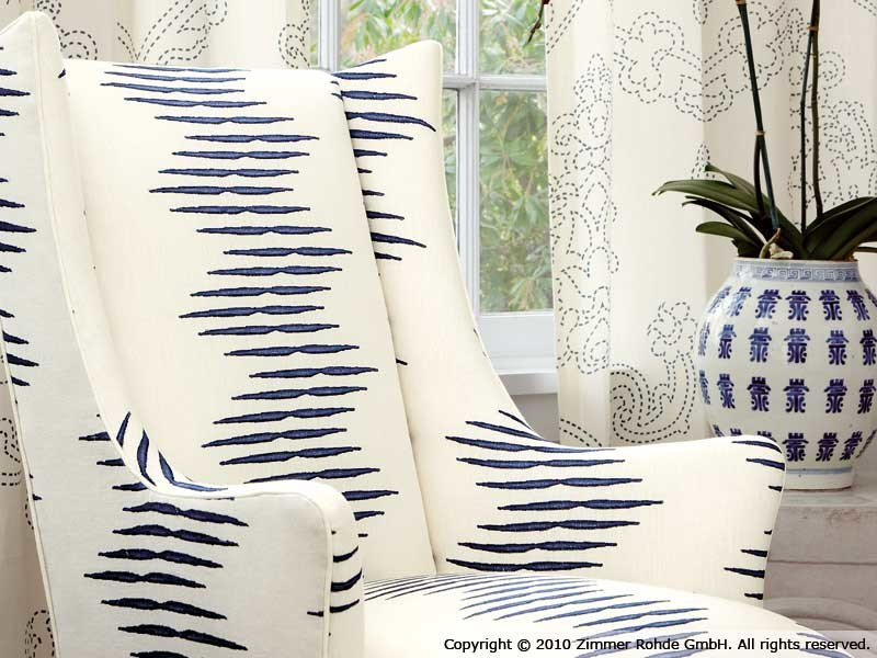 Linen upholstery fabric ARIA by Zimmer + Rohde