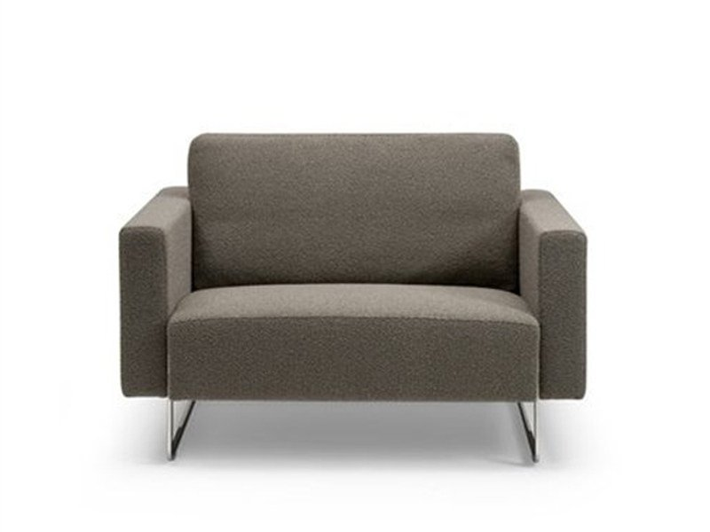 Fabric armchair with armrests MARE ROMANCE | Armchair by Artifort