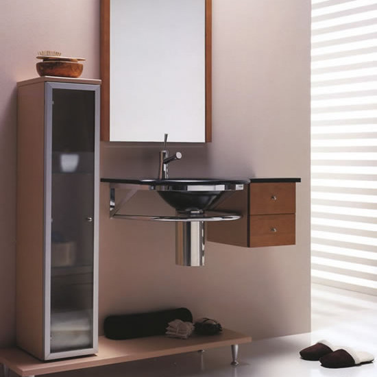 Single wall-mounted washbasin with towel rail BAGNI & CRISTALLI 602 by LASA IDEA