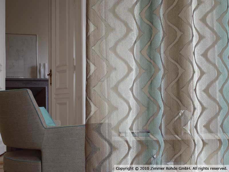 Polyester curtain OMBRARE by Zimmer + Rohde