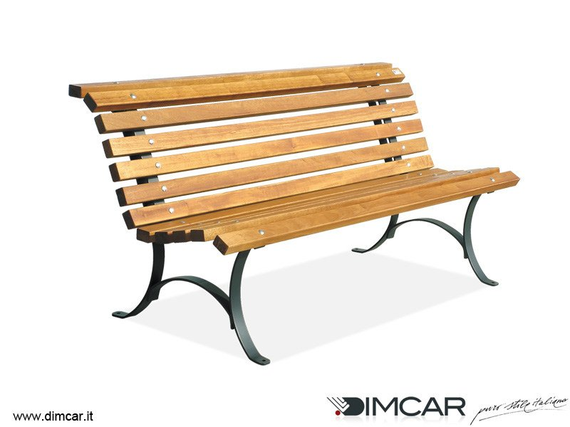 Classic style metal Bench with back Panchina Comfort by DIMCAR