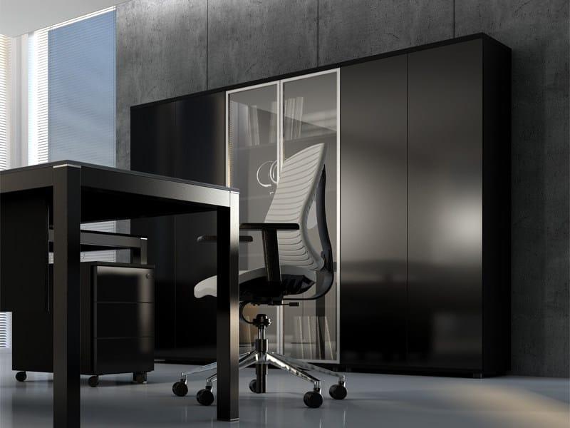 Modular wooden office shelving IMPULS   Office shelving by MDD
