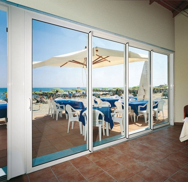 Aluminium sliding door Sliding doors - S.50/Modular by TENDER