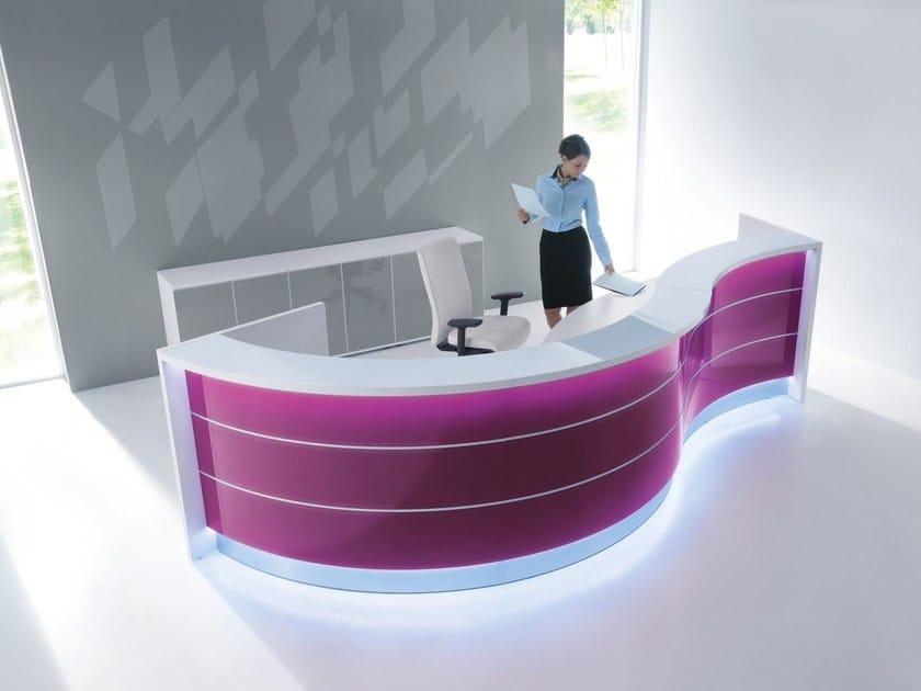 Modular Office reception desk VALDE | Modular Office reception desk by MDD