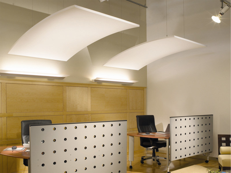 Mineral fibre acoustic ceiling clouds ULTIMA CANOPY by Armstrong