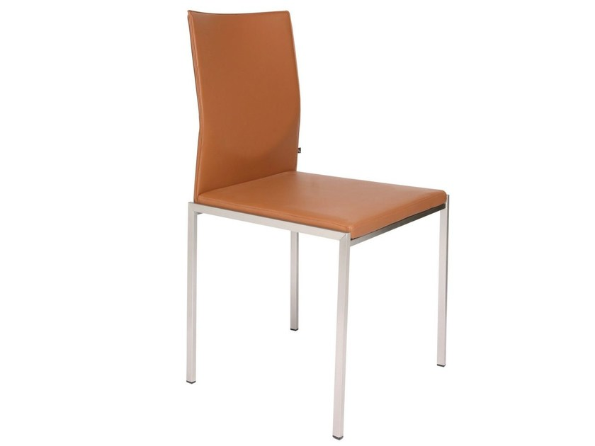 Ergonomic upholstered chair NIVO | Leather chair by KFF