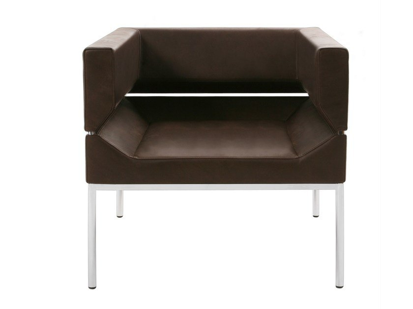Upholstered leather easy chair FM   Leather easy chair by KFF