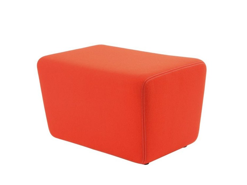 Fabric ottoman SOFT LOW CHAIR by KFF