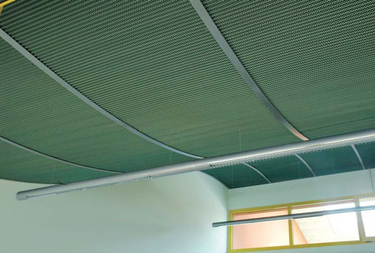 Stretched mesh for facade finish STILTECH by ITALFIM