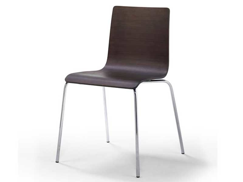 Steel restaurant chair TESA WOOD | Metal chair by arrmet