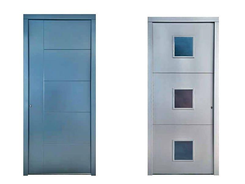 Portoncini pantografati porta d 39 ingresso con pannelli in vetro by pavanello - Portoncini da esterno prezzi ...