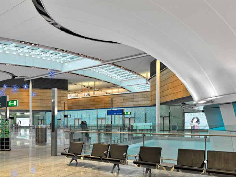 Acoustic Batyline® stretch ceiling BATYLINE AW by SERGE FERRARI®