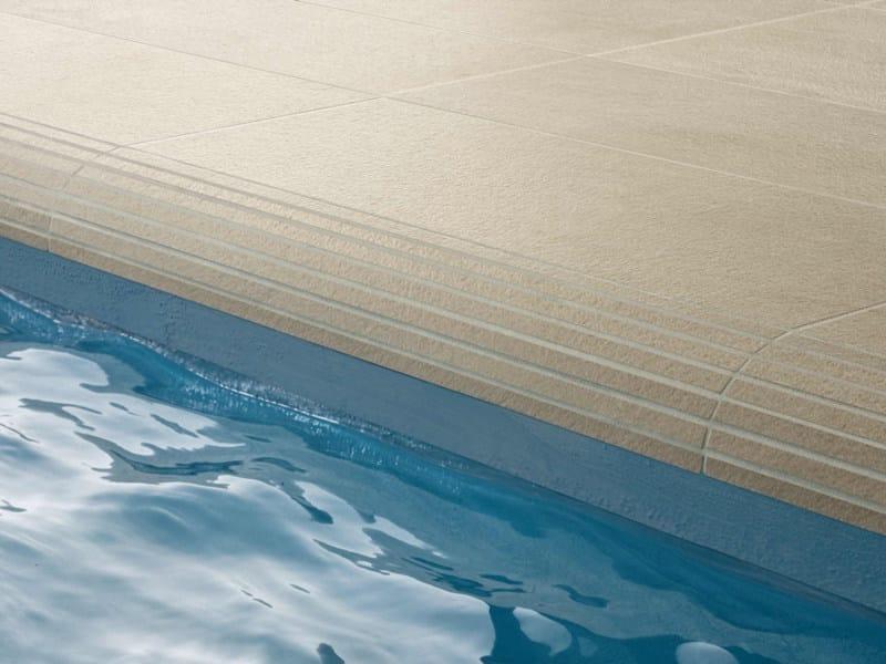 AQUÆ | Bordo per piscina in gres porcellanato Bordo Bend