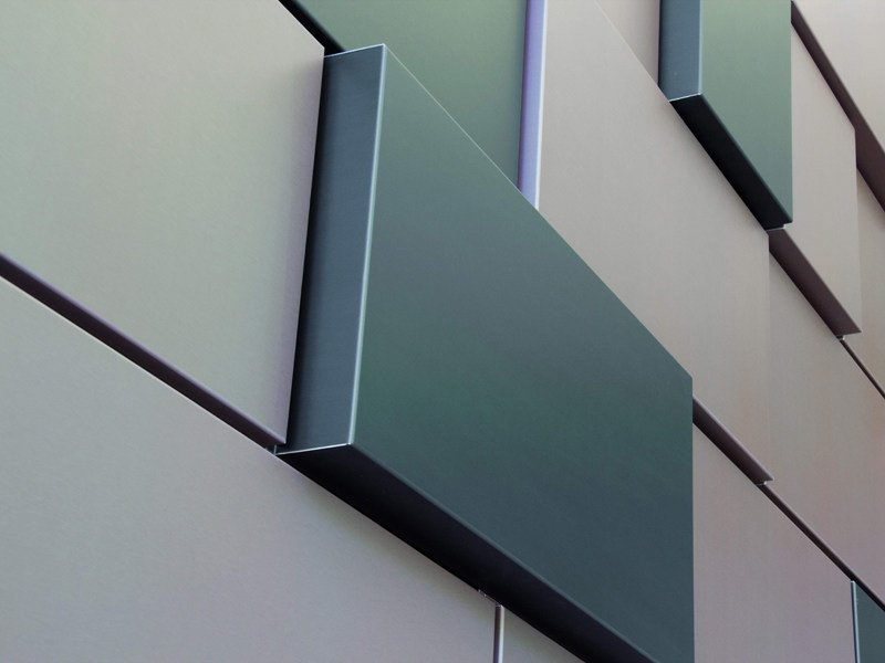 Metal sheet and panel for facade MOZAÏK® by UMICORE VMZINC