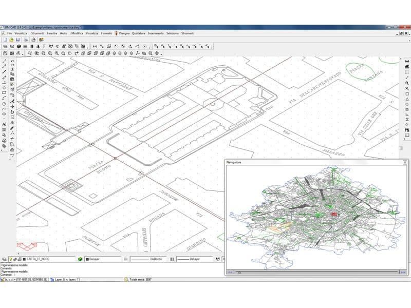BM CAD BM CAD - Esempio visione assonometrica di cartografia vettoriale