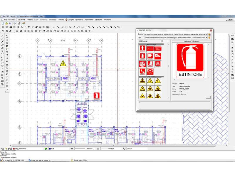 BM CAD BM CAD - Esempio sviluppo planimetri piano emergenza