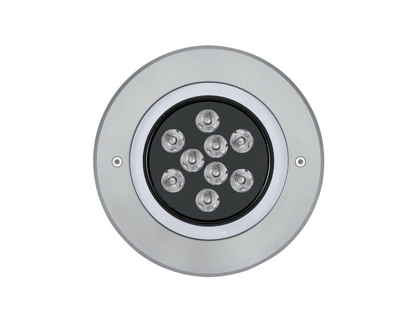 LED aluminium Outdoor floodlight 2100 MEDIO Anello Inox by Platek