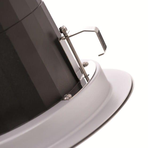 2100 incasso soffitto - particolare del sistema di fissaggio a molla per controsoffitti da 10 a 40 mm