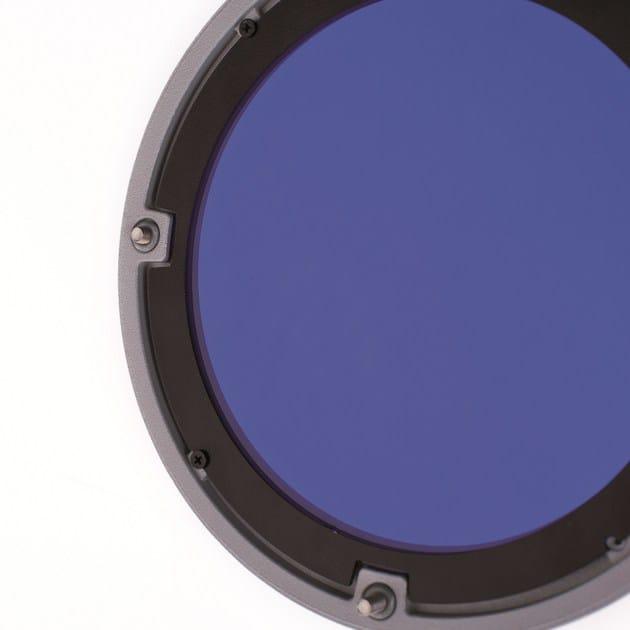 Proiettore con supporto interno per filtri colorati, sabbiati ed ellittici