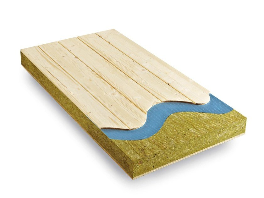 Thermal insulation sheet and panel in mineral fibre Laripan® Bio Lr by BELLOTTI