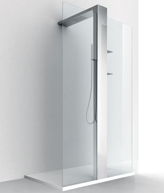 Shower wall panel with column LUXOR D by RELAX