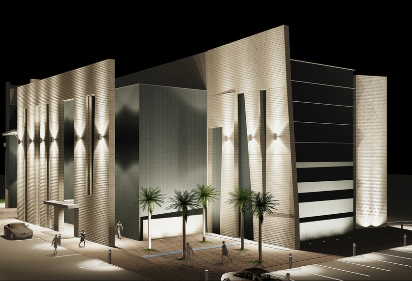 TETRA 200 | Applique per esterno rendering illuminotecnico di applique TETRA 200